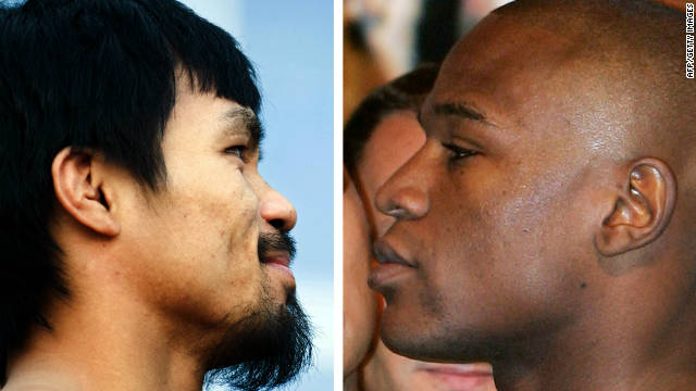 The fight between Mannny Pacquiao (left) and Floyd Mayweather Jnr. could finally take place in 2012.
