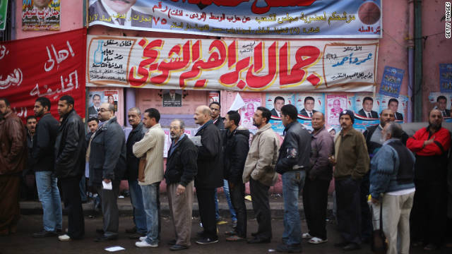 Egyptian women hit the polls
