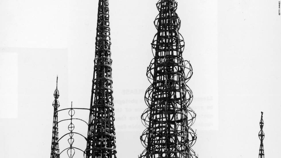 "The Watts Towers were built between the 1920s and 50s and are a much-loved example of so-called ""vernacular"" or folk art."
