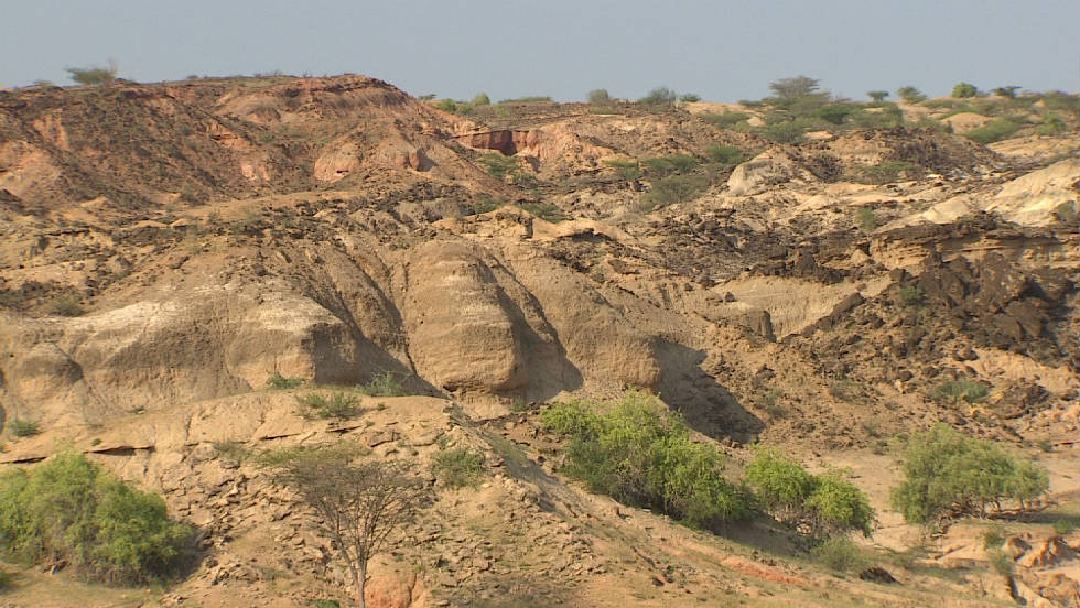 The hills in the Turkana basin have been a boon to paleontologists who have found evidence of humans earliest origins in the fossil record.