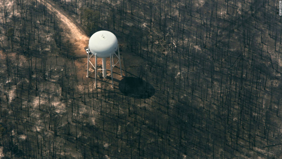 A dangerous combination of drought, hot temperatures and zero-percent humidity created the perfect storm for wildfires in parts of  Arizona, New Mexico and Texas, including the Bastrop wildfire -- the aftermath of that blaze is pictured here.  The Bastrop wildfire burned for more than a month near Austin, Texas, destroying more than 1,500 homes.  More than 3 million acres were burned across Texas.  The wildfires in all three states caused more than $1 billion in direct losses and resulted in five deaths.