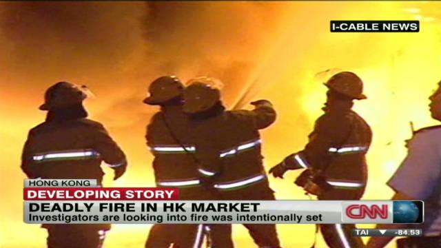Deadly market fire in Hong Kong