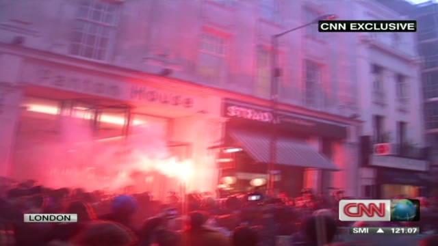 Protesters in London clash with police