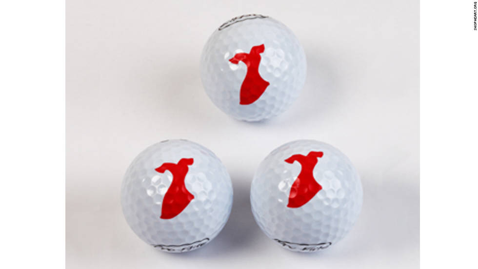 "Heart disease is the No. 1 killer of women in America, and the <a href=""http://www.heart.org/HEARTORG/"" target=""_blank"">American Heart Association </a>is focused on raising awareness on this matter. Pro-Flite golf balls printed with a red dress symbolizes the AHA's Go Red for Women heart health campaign. About 25% of proceeds will help fund research and support education and community programming for awareness of the disease."