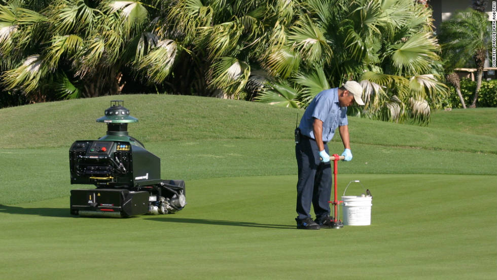 The use of robotics is rapidly spreading to golf course maintenance, and the award-winning Precise Path mower is now being widely used.