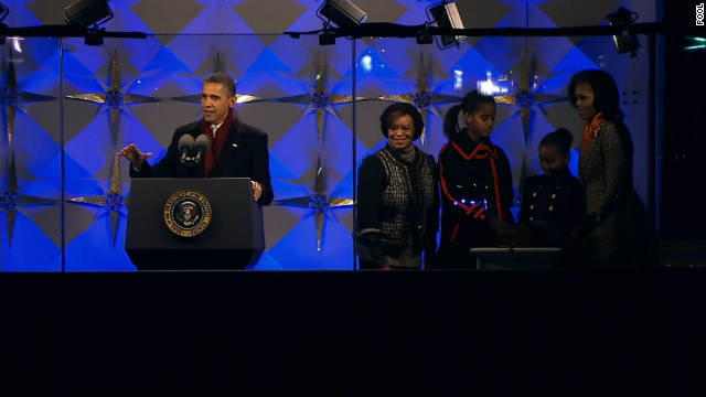 President Obama and the First Family took part in the lighting of the National Christmas Tree Thursday, Dec. 1st, 2011. President Obama delivered a very Christian message during his speech.