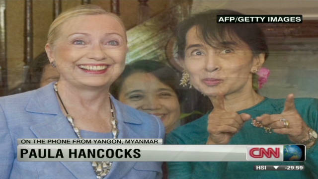 Clinton meets with Suu Kyi in Myanmar