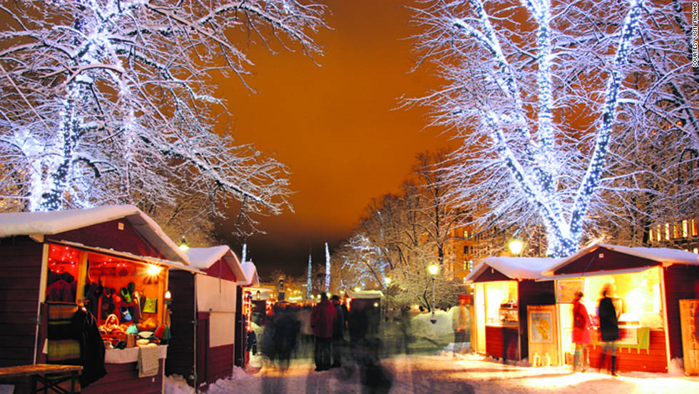 File photo of the St. Thomas Christmas Market in Helsinki, Finland.