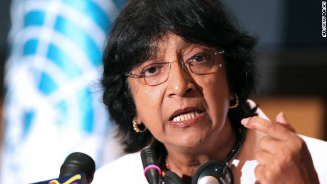 U.N.'s human rights chief Navi Pillay says there is massive evidence for war crimes in Syria.