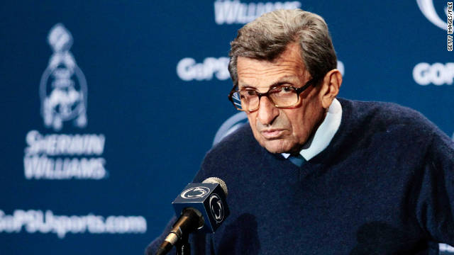 Penn State is paying Joe Paterno as if he retired at the end of the season.