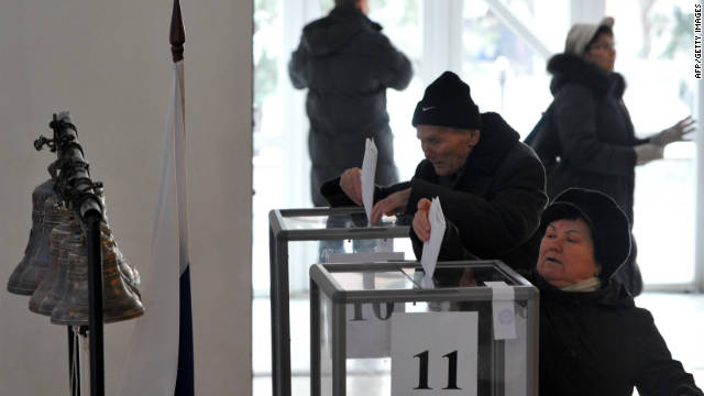 Fraud claims in Russia election