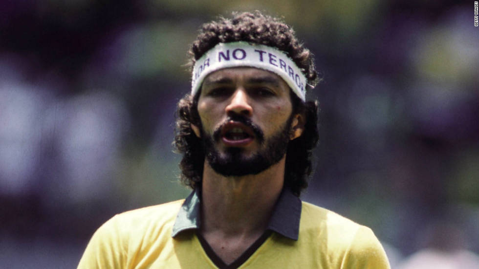 "<strong>Brazil's 1982 World Cup team: </strong>Socrates played 60 times for Brazil and captained his country in Spain during the 82 tournament. The Corinthians star was also a medical doctor, earning him the nickname ""Dr. Socrates."" He was known for being a heavy smoker during his playing day and died at the age 57 in 2011. ""Football as we know it died that day,"" he would later say of Brazil's loss to Italy."