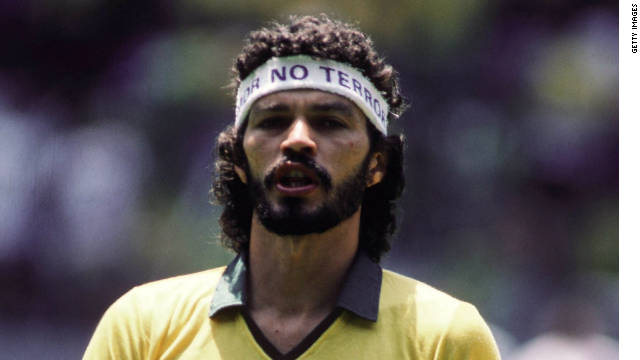 Socrates played 60 times for Brazil and captained his country in the 1982 World Cup finals in Spain.