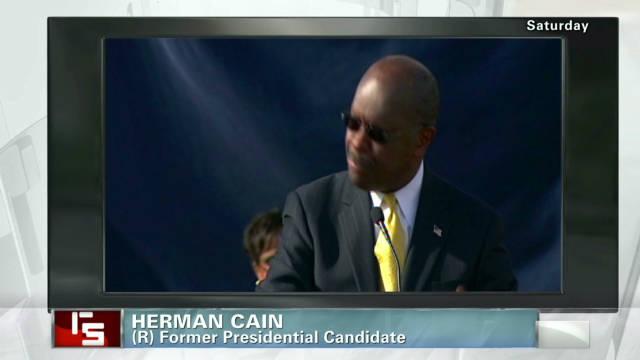 Cain takes a blast at media