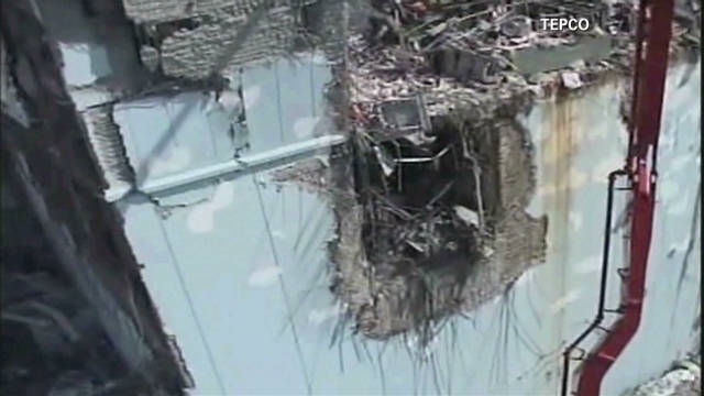 Fukushima plant wreckage post earthquake