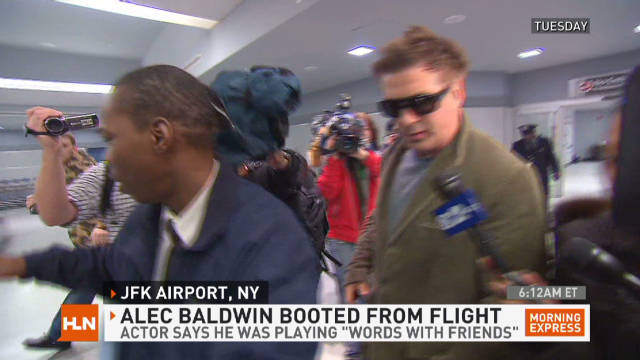 Alec Baldwin kicked off plane for game