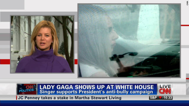 Lady Gaga visits the White House.