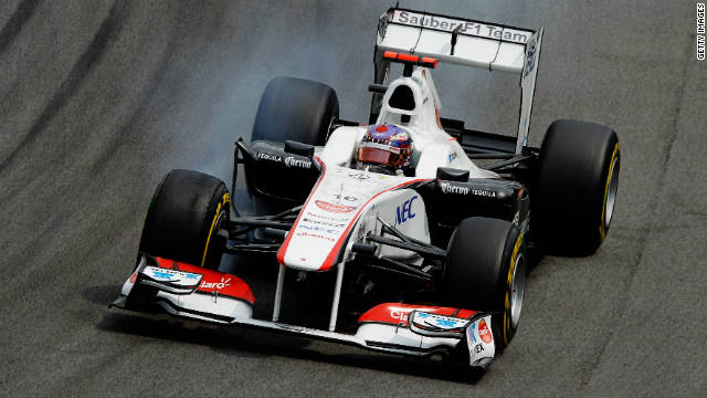 Sauber's Japanese driver Kamui Kobayashi in action at the season-ending Brazilian Grand Prix.