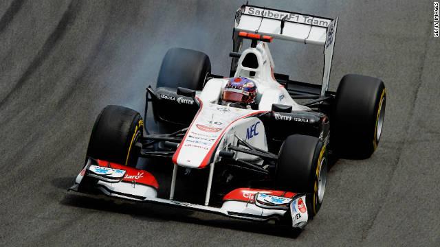 Sauber's Japanese driver Kamui Kobayashi in action at the season-ending Brazilian Grand Prix.