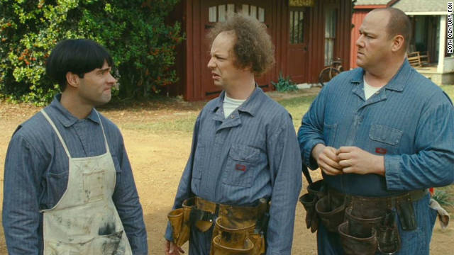 "Chris Diamantopoulos (left), Sean Hayes (center) and Will Sasso star in ""The Three Stooges."""