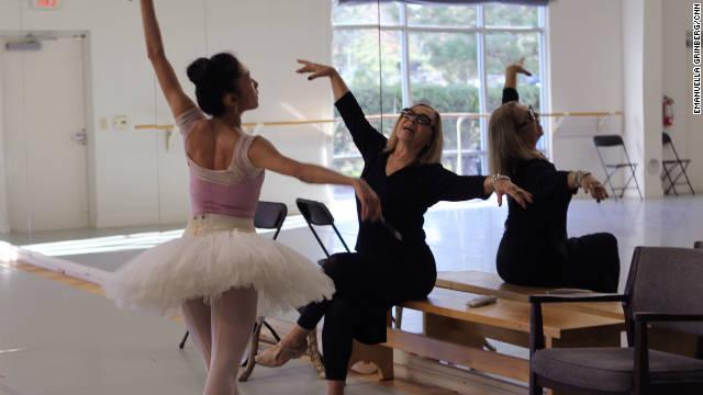 Olga Kostritzky coaches Carolina Ballet principal dancer Margaret Severin-Hansen for her role as sugar plum fairy in the Nutcracker.