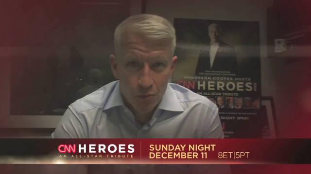 Anderson Cooper  prepares for CNN Heroes
