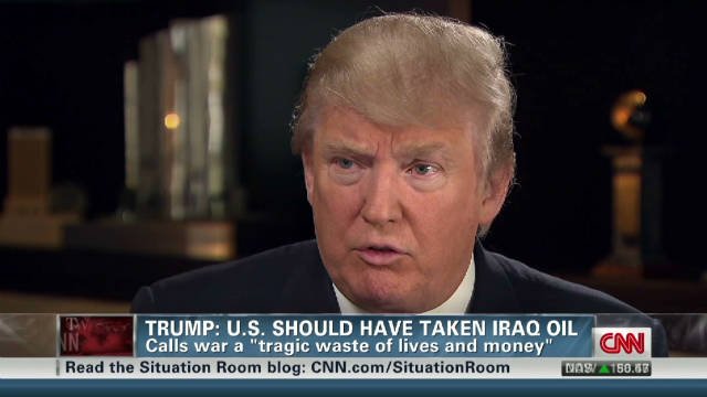Trump: Iraq war 'tragic waste' of money
