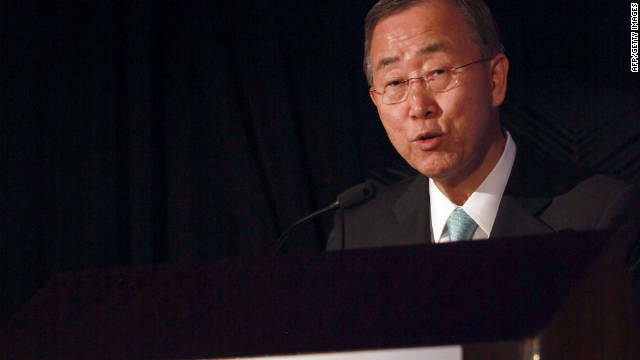 """This cannot go on,"" U.N. Secretary-General Ban Ki-moon said of the bloodshed in Syria."