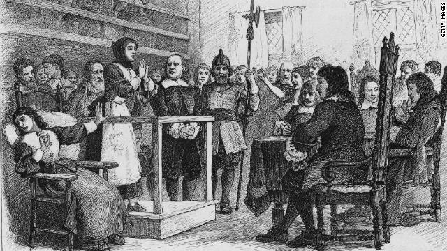 Hundreds of people were accused of witchcraft during witch hunts in the 17th century, most famously in Salem, Massachusetts.