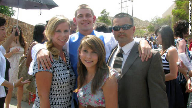 Campuzano is on hand with his wife, Lanita, left, son Anthony and daughter Taylor at Anthony's high school graduation.
