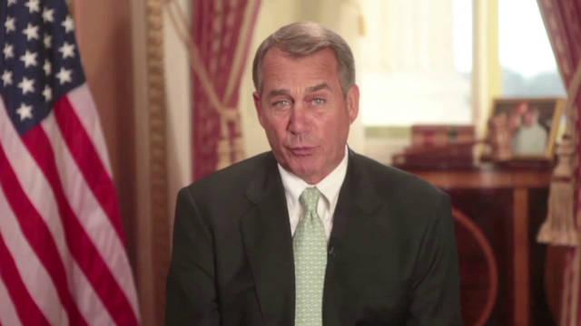 Boehner touts job creation, tax relief
