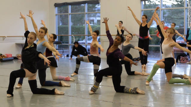 "Dancers at Carolina Ballet rehearse for this year's production of ""The Nutcracker."""
