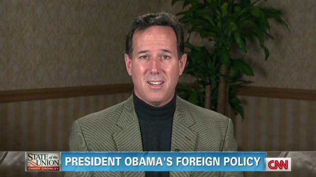 Santorum: Obama foreign policy weak