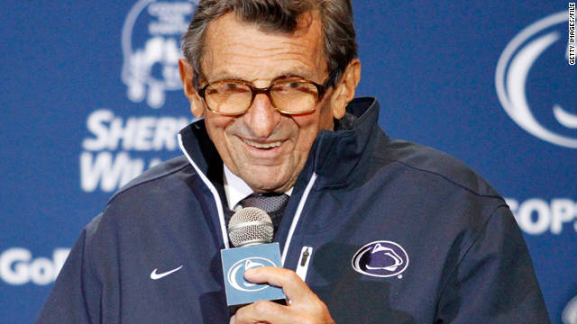 "Penn State football coach Joe Paterno misused the word ""fondling"" to describe what McQueary told him."
