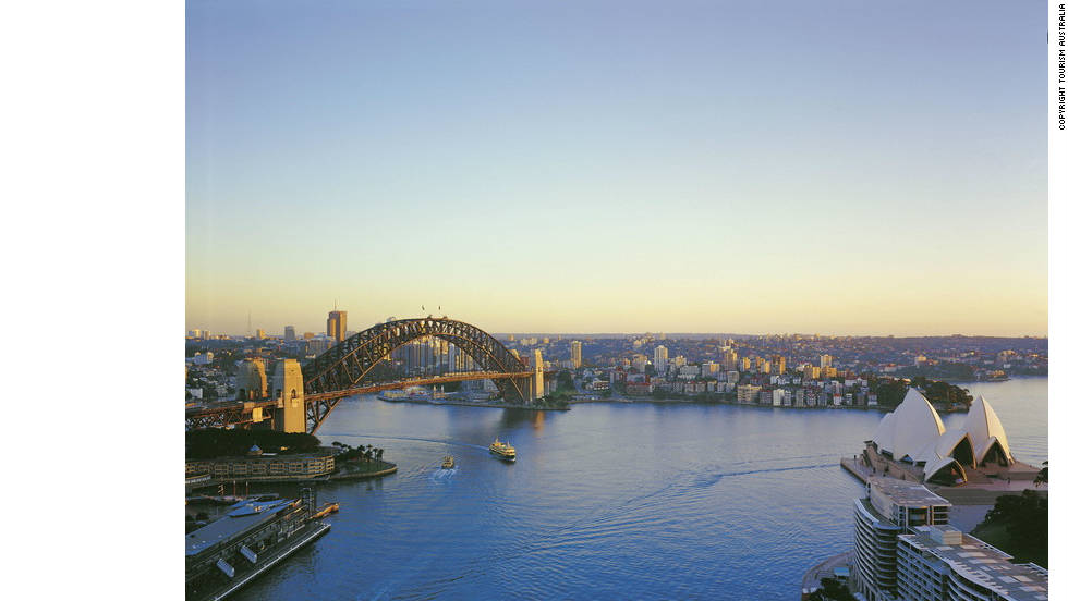 Sydney Harbor is the centerpiece of the city, and the starting point of the 'Sydney to Hobart Yacht Race'.