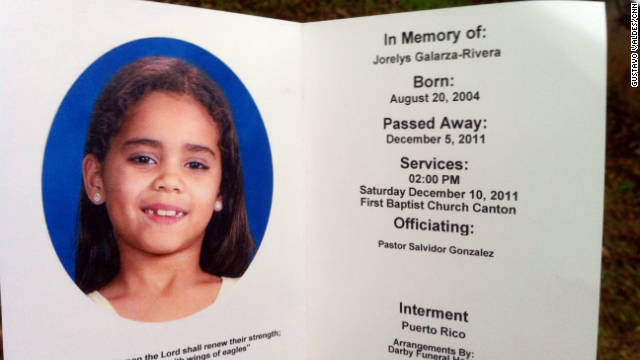 Jorelys Rivera disappeared December 2 near a playground at a Canton, Georgia, apartment complex.