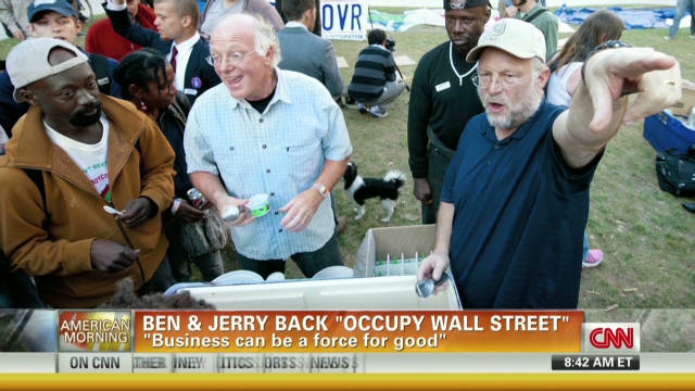 Ben and Jerry back Occupy movement