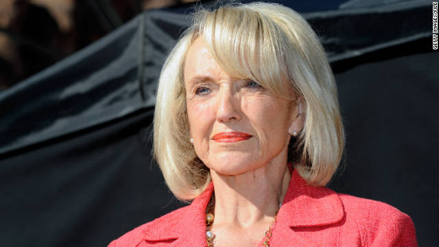 "Gov. Jan Brewer said she stands ""with the majority of Americans"" who she says oppose taxpayer-funded abortions."