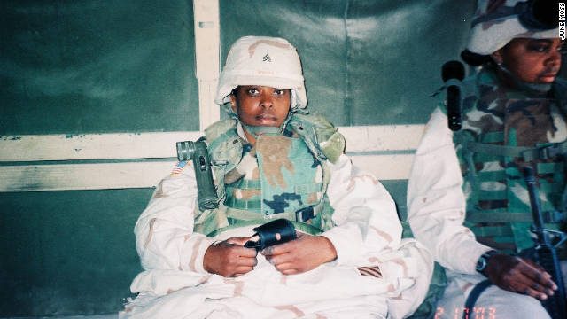 Army Staff Sgt. June Moss provided checkpoint security in Baghdad during the Iraq War.
