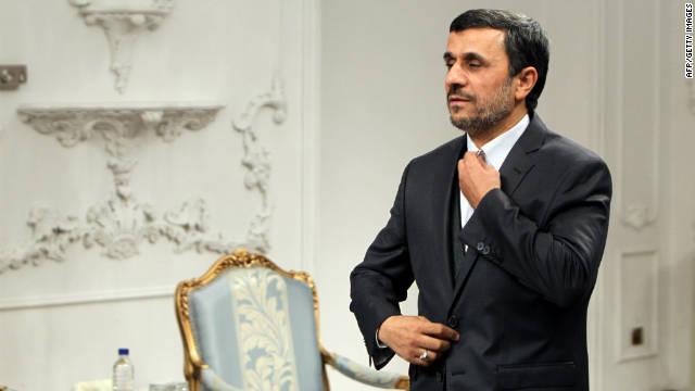 Iranian President Mahmoud Ahmadinejad at his office in Tehran on Tuesday.