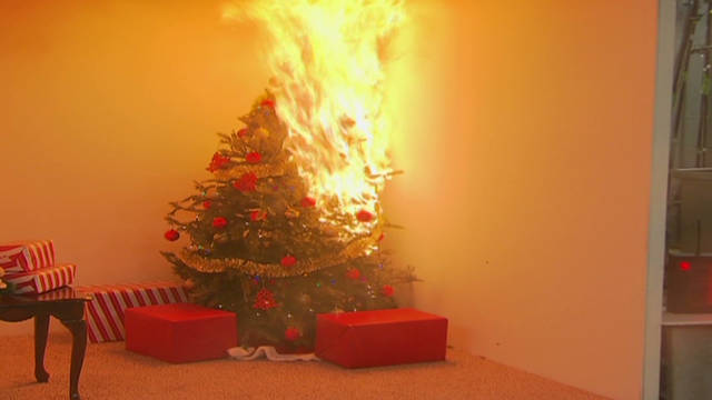 Christmas tree fires: Fast and furious