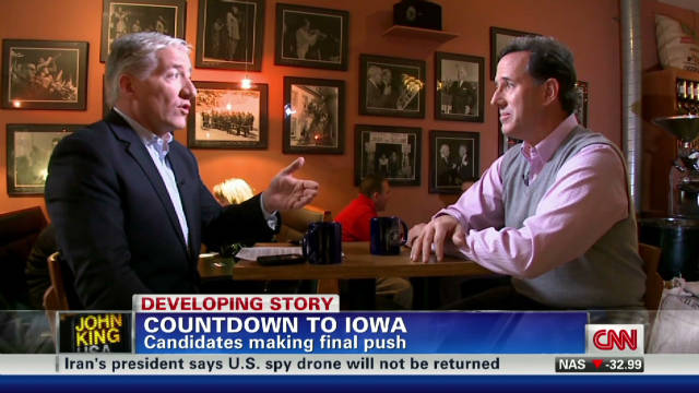 Santorum: Race 'right where I want it'