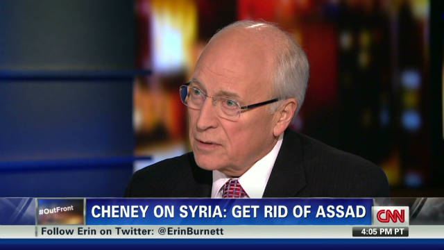 Cheney on drone situation, Syria's Assad