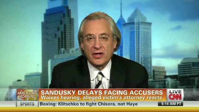 Sandusky victim lawyer on waived hearing