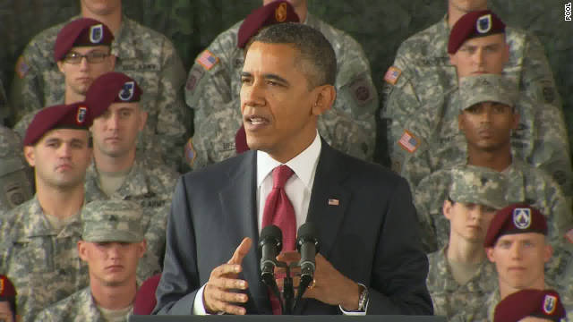 President Obama speaks to troops at Fort Bragg, North Carolina, on Wednesday.