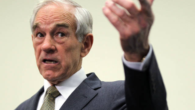 Republican presidential candidate U.S. Rep. Ron Paul (R-TX) addresses the Congressional Health Care Caucus.