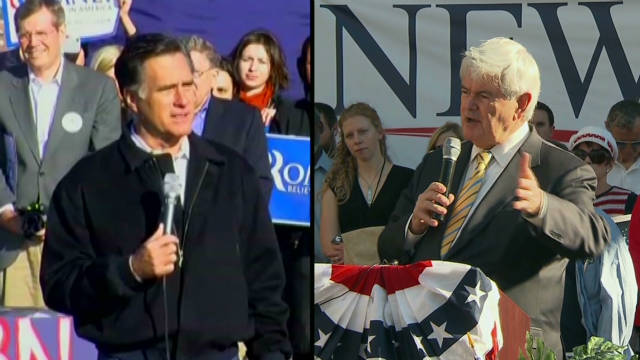 Hecklers, Romney fire on Gingrich