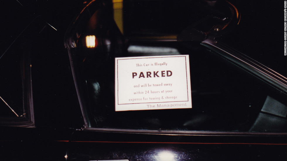 "DiGuglielmo Sr. placed a ""no parking"" sticker on the window of Campbell's Corvette."
