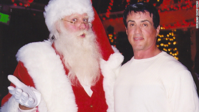 Brady White never imagined meeting Sylvester Stallone when he first, out of desperation, became Santa.
