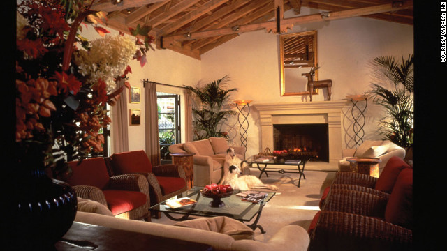 The Cypress Inn offers a relazxing, cozy interior for your weekend getaway.